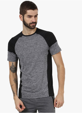 Rockit Black Round Neck Smart Fit T-Shirt