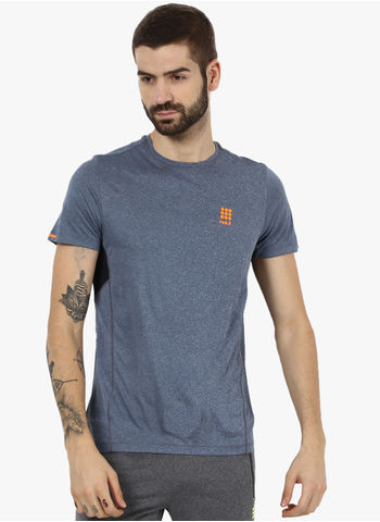 Rockit Light Navy Dark Nav Round Neck Smart Fit T-Shirt
