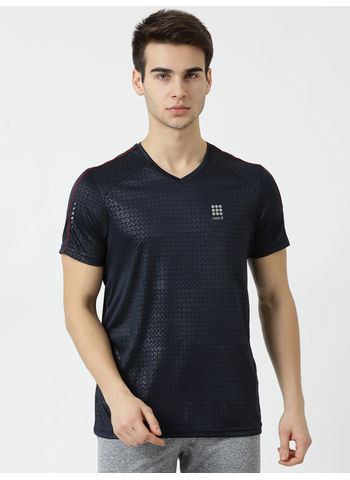 Rockit Navy V Neck Regular Fit T-Shirt