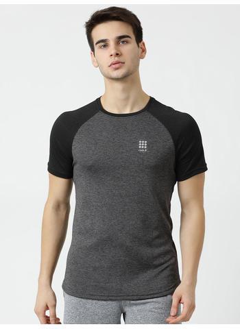 Rockit Grey Round Neck Regular Fit T-Shirt