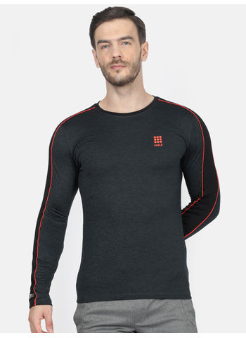 Rockit D.Grey Round Neck Regular Fit T-Shirt