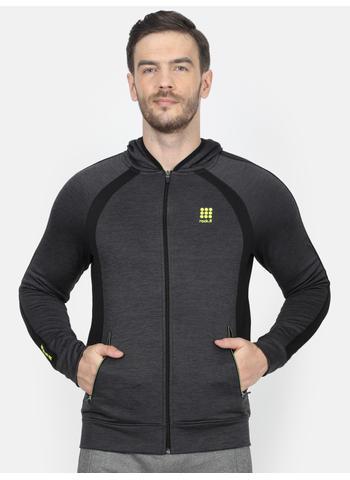 Rockit Grey Hooded Regular Fit Sweatshirt