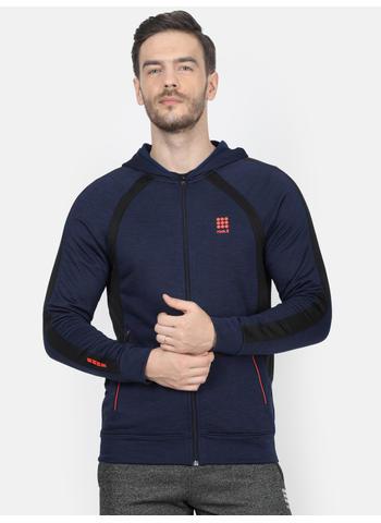Rockit Blue Hooded Regular Fit Sweatshirt