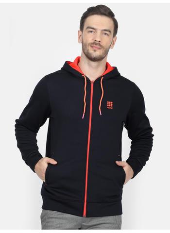 Rockit Navy Hooded Regular Fit Sweatshirt