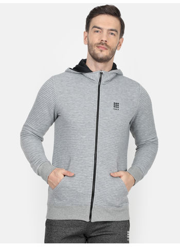 Rockit Lt.Grey Hooded Regular Fit Sweatshirt