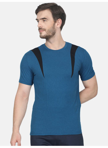 Rockit Old Blue Round Neck Smart Fit T-Shirt