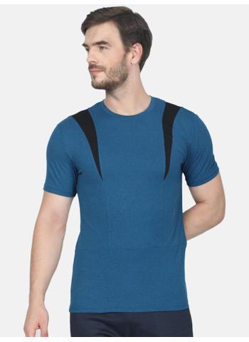 Rockit Old Blue Round Neck Smart Fit T-Shirt