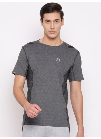 Rockit Grey Round Neck Smart Fit T-Shirt