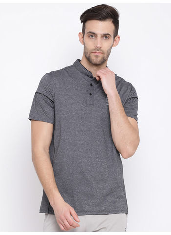 Rockit Grey Round Neck Regular Fit T-Shirt