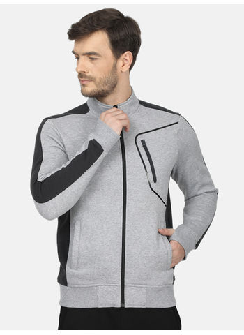 Rockit Grey Collar Regular Fit Sweatshirt