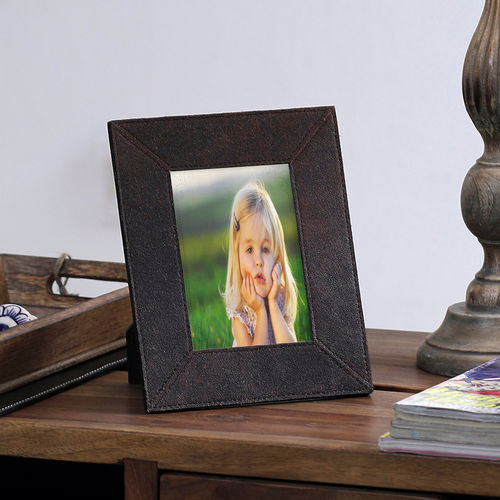 The Decor Mart - Leather - Brown Photo Frame - Pack of 1
