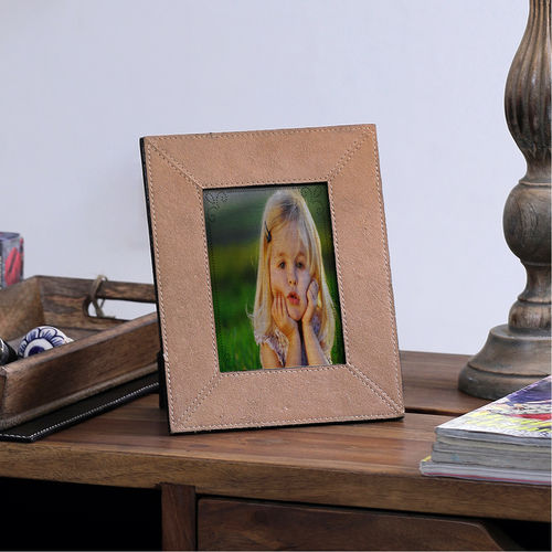 The Decor Mart - Leather - Copper Photo Frame - Pack of 1