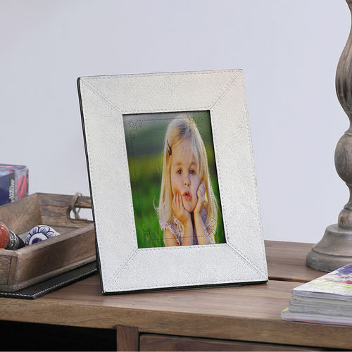 The Decor Mart - Leather - Gold Photo Frame - Pack of 1
