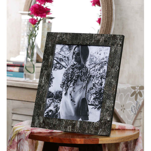 Decor Mart Grey Colour Resin Photo Frame for 10 X 8 inch photo