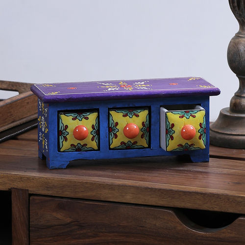 Decor Mart - Wooden and Ceramic Jewelery Box - 4 x 9