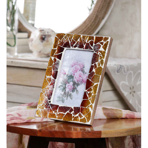 Decor Mart Multi Colour Mosaic Photo Frame for 6 X 4 inch photo