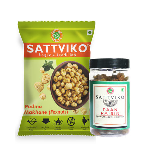 Sattviko Pudina Makhane and Paan Raisin Combo 121gm