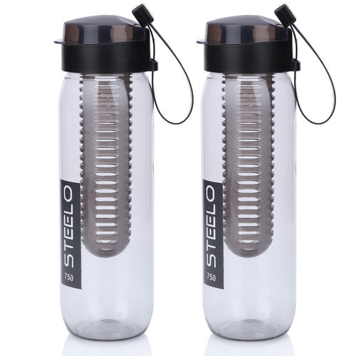 Steelo 750ml x 2 pcs Sante Infuser Water Bottle (Black)