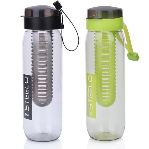 Steelo 750ml x 2 pcs Sante Infuser Water Bottle (Black, Green)