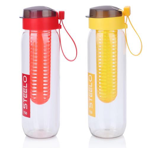 Steelo 750ml x 2 pcs Sante Infuser Water Bottle (Yellow, Red)