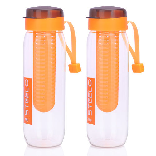 Steelo 750ml x 2 pcs Sante Infuser Water Bottle (Orange)-Pack of 2