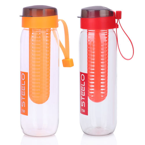 Steelo 750ml x 2 pcs Sante Infuser Water Bottle (Red+Org)-Pack of 2