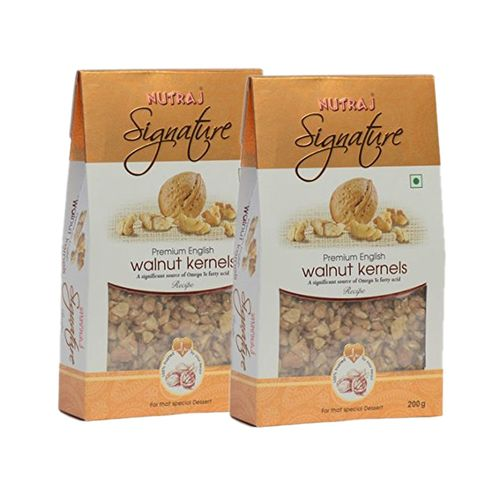 Nutraj Signature Recipe Ready English Walnut Kernels 200G (Pack Of 2)