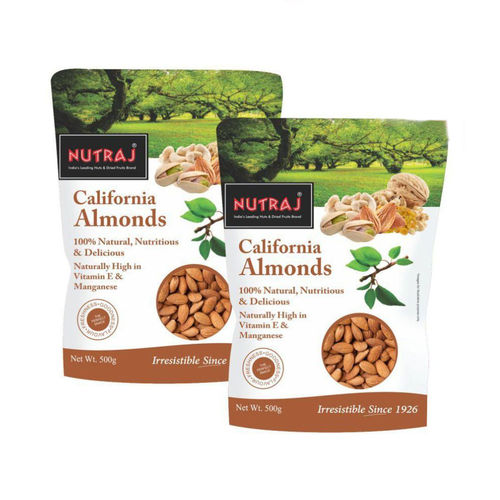 Nutraj California Almonds 500G (Pack Of 2)