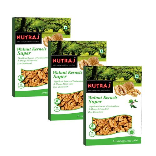Nutraj - Super Walnut Kernels - 250G (Pack Of 3)