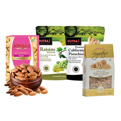 Nutraj Daily Need Combo (1850gm)-(Almonds, Raisins, Walnuts, Pistachios, Cashews)