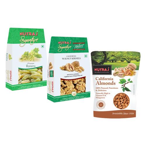 Nutraj Super Saver Pack 900g  (Walnuts+Almonds+Raisins)