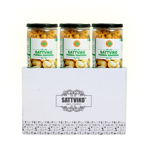 Sattviko Pudhina Makhana (75gm) - Pack of 3