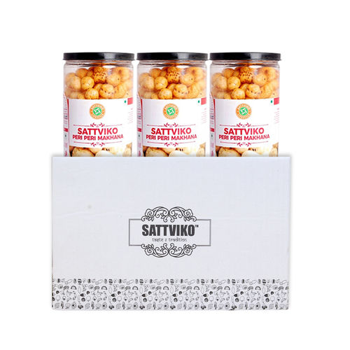 Sattviko Peri Peri Makhana Jar (75gm)  - Pack of 3