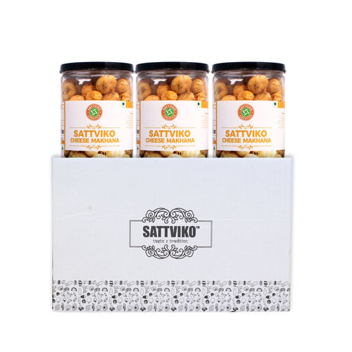 Sattviko Herb and Cheese Makhana  Jar (75gm) - Pack of 3