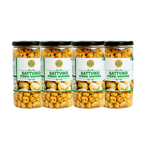 Sattviko Pudhina Makhana (70gm) - Pack of 4