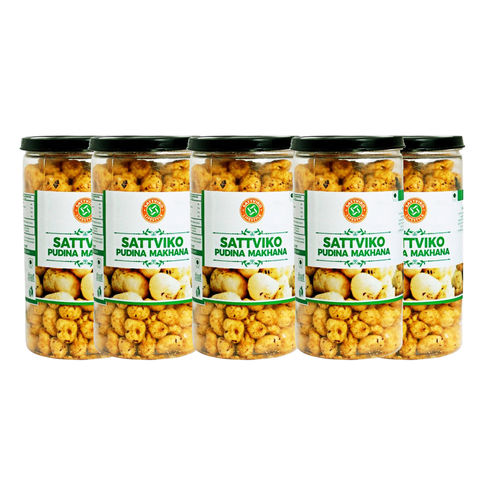 Sattviko Pudhina Makhana (70gm) - Pack of 5
