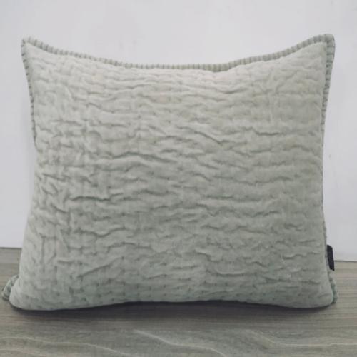 Linen Kantha Cushion Cover
