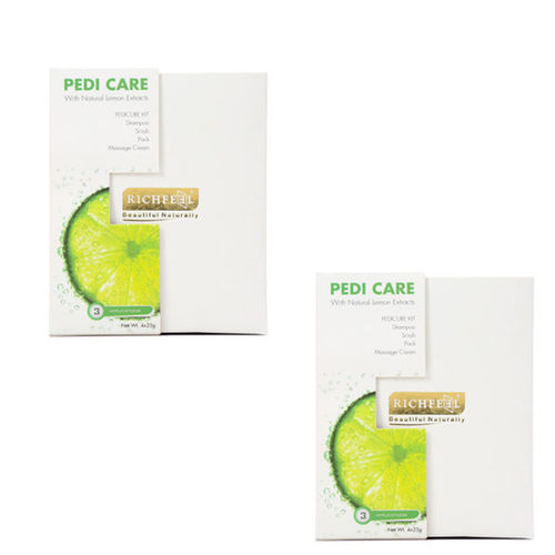 Richfeel Pedi Care with Natural Lemon Etracts 3 Appilcations 100g (Pack Of 2)