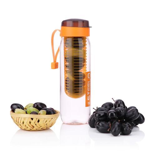 Steelo 750ml x 1 pcs Sante Infuser Water Bottle (Orange)