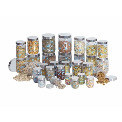 Steelo 30 pcs PET Container Set- 50 ml x 5, 200 ml x 5, 500 ml x 5, 800 ml x 5, 1100 ml x 5, 1800 ml x 5 (Selo)