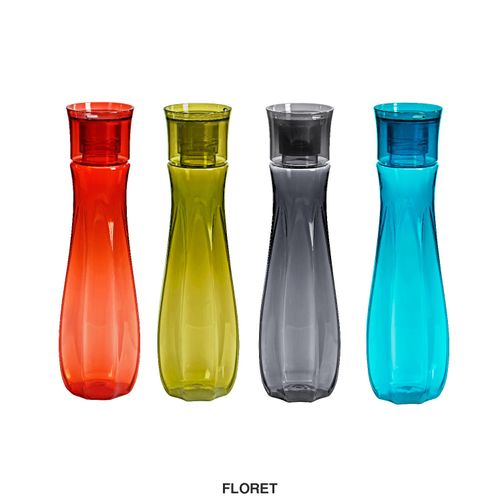 Steelo Floret Water Bottle, 1000ml, Set of 4, Assorted