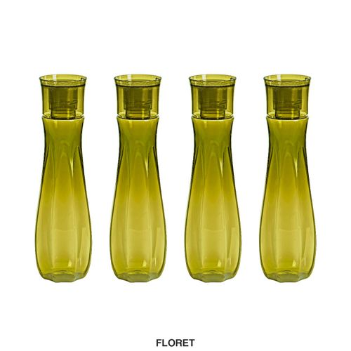 Steelo Floret Water Bottle, 1000ml, Set of 4, Olivegreen