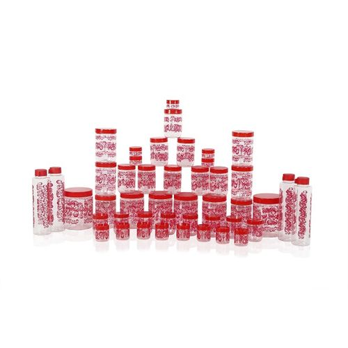 Steelo Fegy Containers 45Pcs Set (Red)