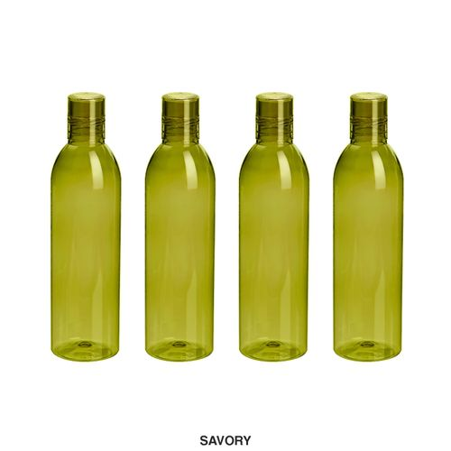 Steelo Savory Water Bottle, 1000ml, Set of 4, Olivegreen