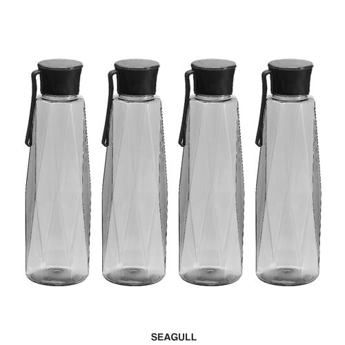 Steelo Seagul Water Bottle, 1000ml, Set of 4, Grey