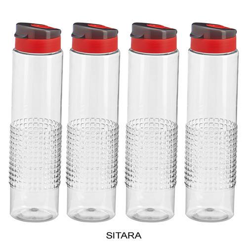 Steelo Sitara Water Bottle, 1000ml, Set of 4, Clear