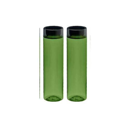 Steelo Neer Unbreakable Tritan Water Bottle, 1000ml, Set of 2, Dark Green