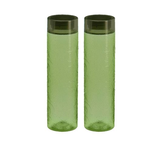 Steelo Orbit Unbreakable Tritan Water Bottle, 1000ml, Set of 2, Dark Green