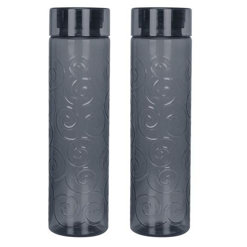 Steelo Orbit Unbreakable Tritan Water Bottle, 1000ml, Set of 2, Grey