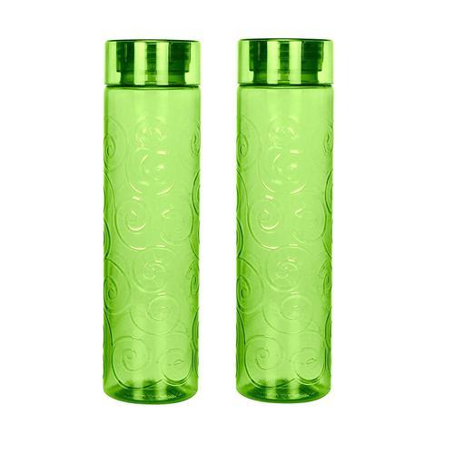 Steelo Orbit Unbreakable Tritan Water Bottle, 1000ml, Set of 2, Olivegreen